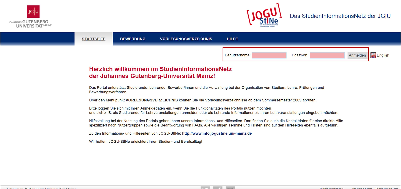 an wen kann ich mich wenden wenn ich mich nicht anmelden kann - Uni Mainz Bewerbung